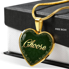 Choose Heart Style Charm Necklace