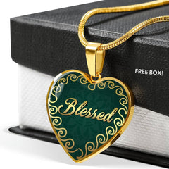 Blessed Heart Style Charm Necklace
