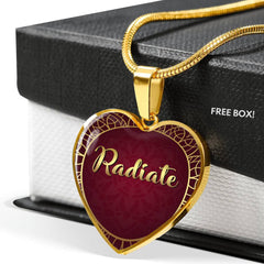 Radiate Heart Style Necklace