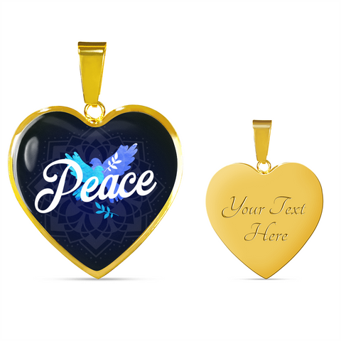 Peace Heart Style Gold Charm Necklace - Lyghtt