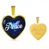 Image of Peace Heart Style Gold Charm Necklace - Lyghtt
