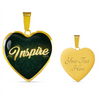 Image of Inspire Heart Style Gold Charm Necklace - Lyghtt