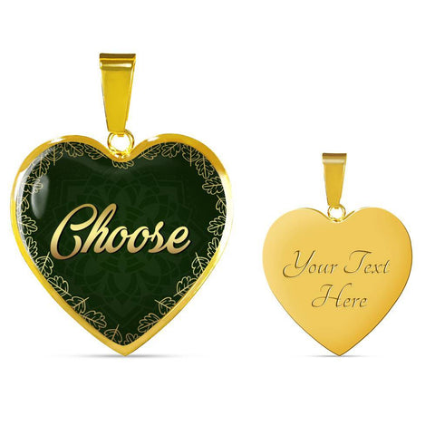 Choose Heart Style Charm Necklace - Lyghtt