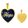 Image of Hope Heart Style Gold Charm Necklace - Lyghtt