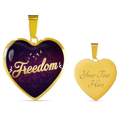 Freedom Heart Style Gold Charm Necklace - Lyghtt