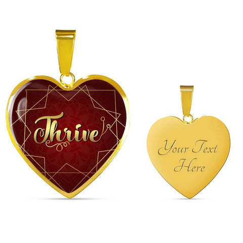 Thrive Heart Style Charm Necklace