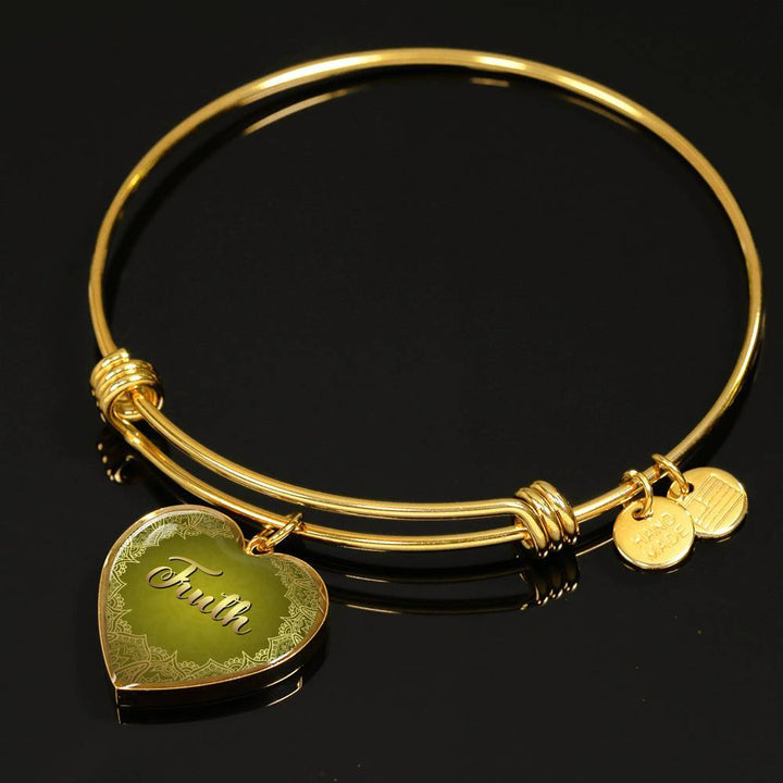 Truth Heart Style Bangle Bracelet