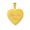 Image of Gratitude Heart Style Gold Charm Necklace - Lyghtt