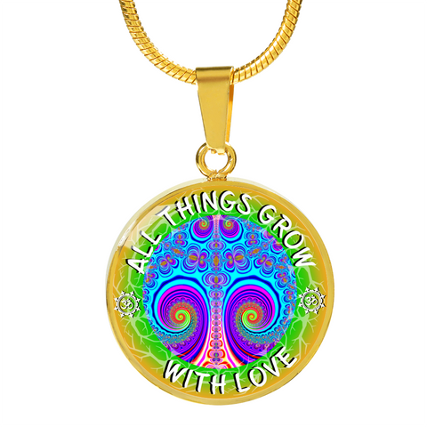 All Things Grow with Love Tree Pink Pendant Necklace - Lyghtt