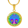 Image of All Things Grow with Love Tree Pink Pendant Necklace - Lyghtt