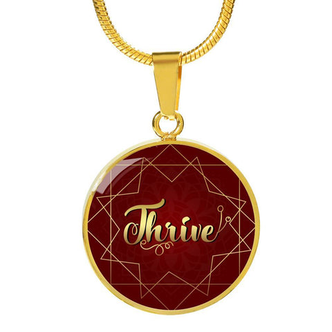 Thrive circle style charm necklace