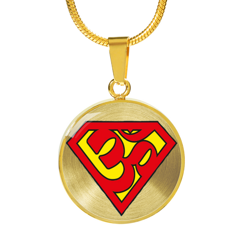 Super Om Symbol Pendant Necklace - omfinite gift ideas for women