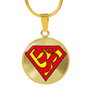 Image of Super Om Symbol Pendant Necklace - omfinite gift ideas for women