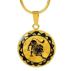 Leo Gold Zodiac Necklace - Lyghtt