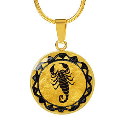 Scorpio Gold Zodiac Charm Necklace
