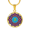 Image of Mandala Om Lotus Flower Pendant Charm Necklace - Lyghtt
