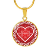 Image of Red Love Heart Beat Pendant Necklace - Lyghtt
