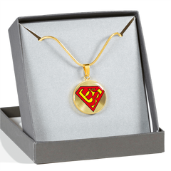Super Om Symbol Pendant Necklace