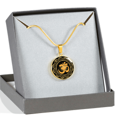 Golden Om Symbol Pendant Necklace