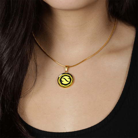 Golden Infinite Flower of Life, Omfinite Pendant Necklace with Engraved Personalization - Lyghtt