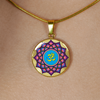 Image of Mandala Om Lotus Flower Pendant Charm Necklace - omfinite