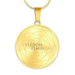 Freedom & Feminism Project Logo Pendant Necklace - Lyghtt