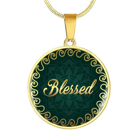 Blessed Circle Style Charm Necklace - Lyghtt