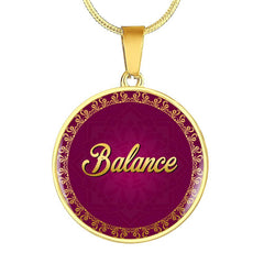 Balance Circle Style Charm Necklace - Lyghtt