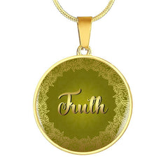 Truth Circle Style Gold Charm Necklace - Lyghtt