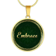 Embrace Circle Style Gold Necklace - Lyghtt