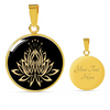 Image of Gold Namaste Lotus Flower Charm Necklace - Lyghtt