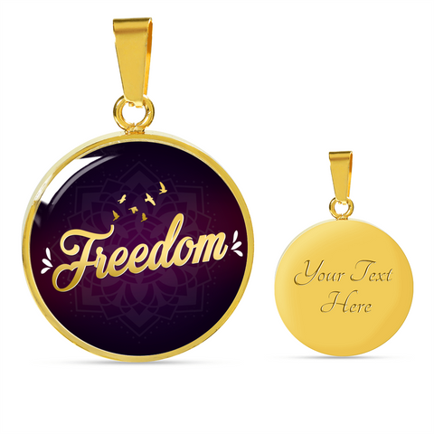 Freedom Circle Style Charm Necklace - Lyghtt