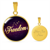 Image of Freedom Circle Style Charm Necklace - Lyghtt