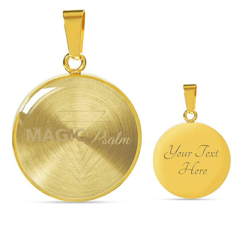 Magic of Psalm Logo Round Pendant Necklace