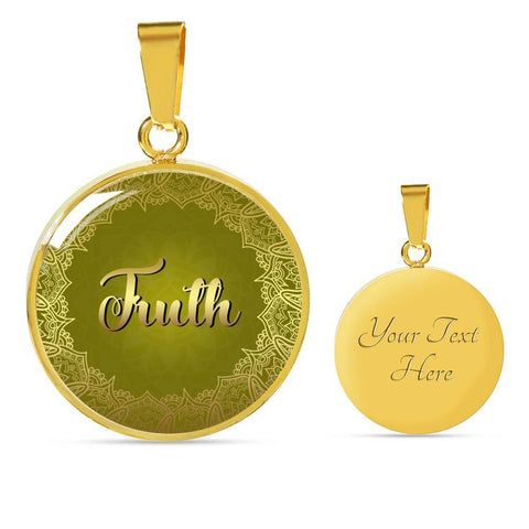Truth Circle Style Gold Charm Necklace