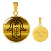 Image of Gold Hamsa Hand Of Fatima Charm Pendant Necklace - Lyghtt