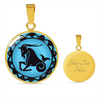 Image of Capricorn Blue Zodiac Sign Pendant Necklace - Lyghtt