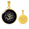 Image of Golden Om Lotus Flower Pendant Necklace - Lyghtt