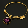 Image of Amazing Pink on Black Lotus Bangle Bracelets - Lyghtt
