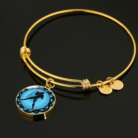 Aquarius Blue Zodiac Bangle Bracelet - Lyghtt
