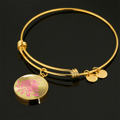Amazing Pink Lotus Bangle Bracelets - Lyghtt