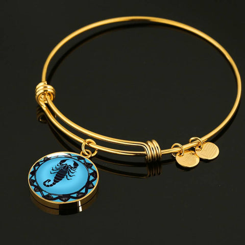 Scorpio Blue Zodiac Bangle bracelet