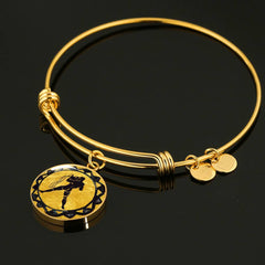 Aquarius Gold Zodiac Bangle - Lyghtt