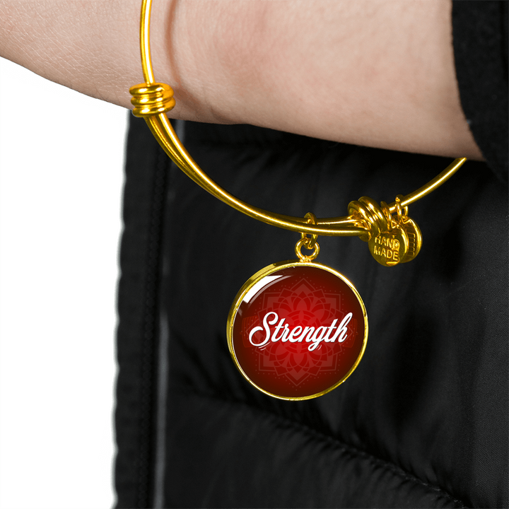 Strength Circle Style Bangle Bracelet