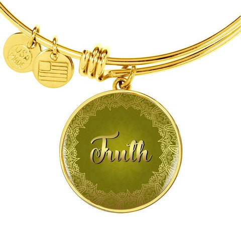 Truth Circle Style Gold and Silver Bangle Bracelet - Lyghtt