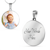 Image of Personalized Circle Style Photo Necklace - Lyghtt