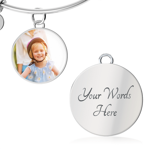 Personalized Circle Style Photo Bangle - Lyghtt