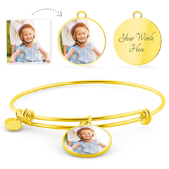 Personalized Circle Style Photo Bangle
