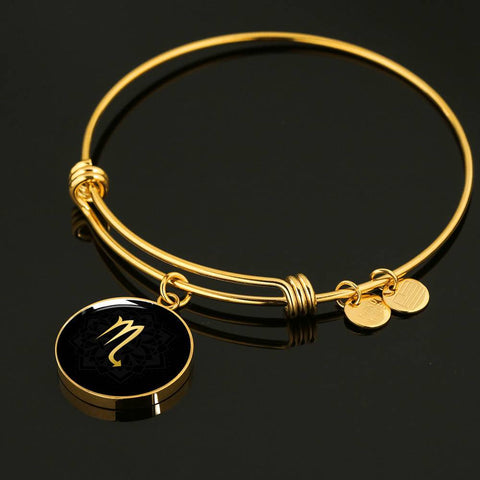 Gold on Black Scorpio Zodiac Astrology Bangle Bracelet - Lyghtt