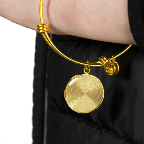 Freedom & Feminism Project Round Bangle Bracelet - Lyghtt